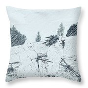 Winter Magic Throw Pillow by Pastime Ideas