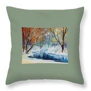 Winter New Throw Pillow