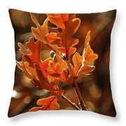 Winter Oak Throw Pillow