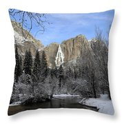 Winter Of Yosemite Throw Pillow