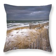 Winter On Cape Cod Throw Pillow