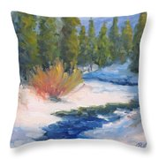 Winter On Gore Creek Throw Pillow