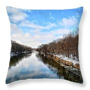 Winter On The Cedar Throw Pillow