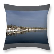 Winter On The Lake Throw Pillow
