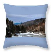 Winter On The Pemi Throw Pillow