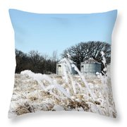 Winter On The Prairie Number 2 Throw Pillow