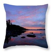 Winter Pastel Sundown Serenity Throw Pillow