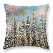 Winter Pastels Throw Pillow