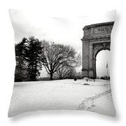 Winter Path To Glory Throw Pillow