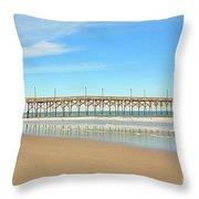 Roller Coaster Pier  Throw Pillow