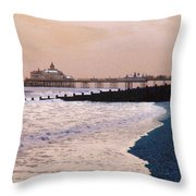 Winter Pier Throw Pillow