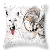 Winter Play Throw Pillow