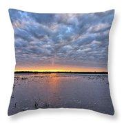 Winter Purple Throw Pillow
