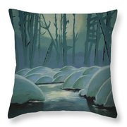 Winter Quiet Throw Pillow