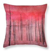 Winter Red  7913red Throw Pillow