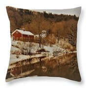 Winter Reflection 2 Throw Pillow