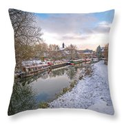 Winter Reflections On The River Throw Pillow