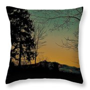Winter Respite Throw Pillow