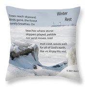Winter Rest Throw Pillow