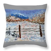 Winter Ride Throw Pillow