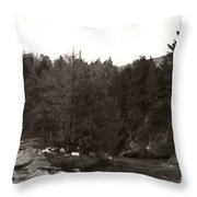 Winter River Number Two Throw Pillow