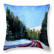 Winter Road Trip Throw Pillow
