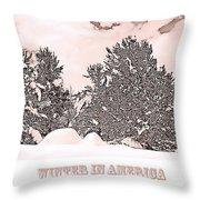 Winter Scene In The Colorado Rockies Throw Pillow
