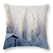 Winter Scene Throw Pillow by Kati Molin