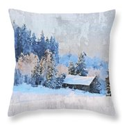 Winter Scenery Throw Pillow