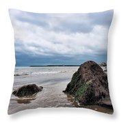 Winter Seascape - Lyme Regis Throw Pillow