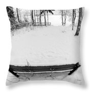 Winter Seat 1 Throw Pillow