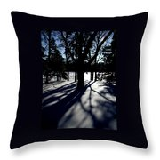 Winter Shadows 2 Throw Pillow