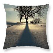 Winter Silhouette Throw Pillow