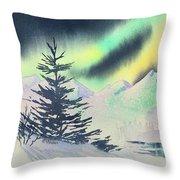 Winter Skylights Throw Pillow