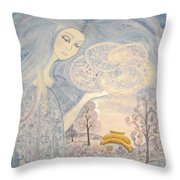 Winter Snow Sows Throw Pillow