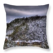 Winter Snow Storm Throw Pillow