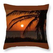 Winter Solstice Sunrise 2 Delray Beach, Florida Throw Pillow