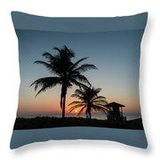 Winter Solstice Sunrise Delray Beach Florida Throw Pillow
