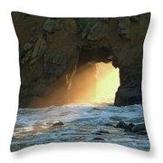 Winter Solstice Sunset In Big Sur Throw Pillow