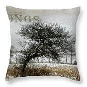 Winter Songs Throw Pillow