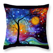 Winter Sparkle By Madart Throw Pillow by Megan Duncanson