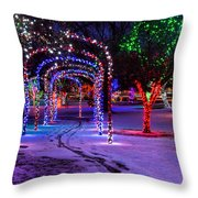 Winter Spirit At Locomotive Park Throw Pillow