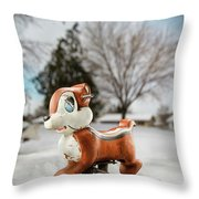 Winter Squirel Throw Pillow