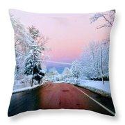 Winter St Throw Pillow