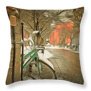 Winter Stockholm  Swiss  Throw Pillow
