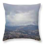 Winter Storm On Desert Mountain Throw Pillow