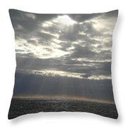 Winter Sun At Sea Throw Pillow