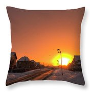 Winter Sun Glow Throw Pillow