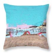 The Beach In Winter  Throw Pillow