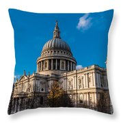 Winter Sun St Paul's Cathedral Throw Pillow
